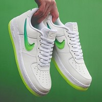 inseva Nike Wmns Air Force 1 Jelly cream white liquid crystal hook classic wild casual sports shoes