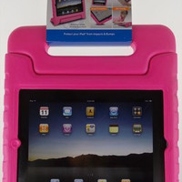 iPad 2 3 4 Tech Go Bump Case Pink Protect Impact Handle Stand Carry Sturdy NEW