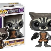 Funko POP Marvel: Guardians of The Galaxy - Rocket Raccoon Vinyl Bobble-Head Figure