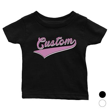 Purple College Swoosh Elegant Funky Baby Personalized T-Shirt Gift