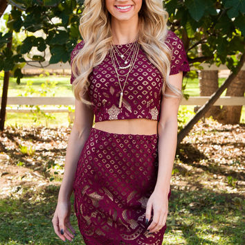 On Your Mind Lace Crop Top