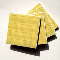 The Bonster: Set of 4 Sunny Day Tile Coasters