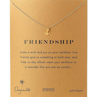 Moon Dogeared Friendship Anchor Alloy Gold Plated Shorts Chains Clavicle Necklace