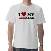 I Love My Redhead Men's Shirt from Zazzle.com