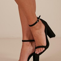 Therapy - Amelie heels in black micro Produced By SHOWPO