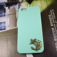 fashion new simple bronze ship anchor pendant on iphone by hafuad