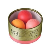 EOS Limited Edition Lip Balm Trio Rachel Roy Edition - Pink Grapefruit - Strawberry Kiwi - Orange Blossom - 0.25 oz each