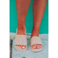Get To The Point Sandals: Nude