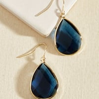 Receiving Drop Honors Earrings in Royal Blue | Mod Retro Vintage Earrings | ModCloth.com