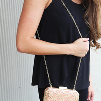 "Big Buddha ""Sweetie"" Box Clutch {Blush}"