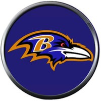 NFL Baltimore Ravens Raven On Purple Team Sports Football Game Lovers 18MM - 20MM Snap Charm Jewelry