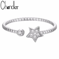 Chandler Hot 1pcs silver  Twist Star Crystal Ring Open Midi Pinkie Knuckle Toe Anillos Everyday Statement Jewelry