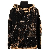 Assembly Black Cotton Distressed Hoodie