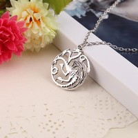 """Blueness Song Of Ice Fire """"Game of Thrones"""" Targaryen Necklace - FREE"""