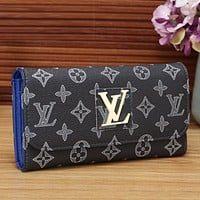 Louis Vuitton Women Fashion Leather Buckle Wallet Purse