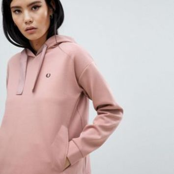 Fred Perry Neoprene Crop Hoodie at asos.com