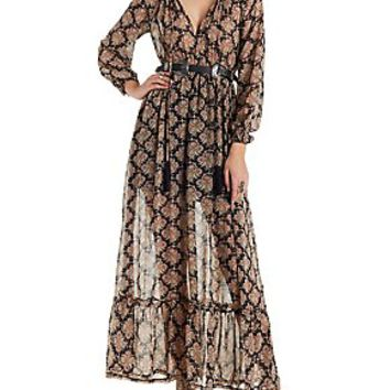 RE:NAMED BOHO PRINT MAXI DRESS