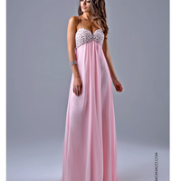 Pearl Sweetheart Light Pink Gown