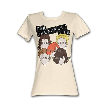 Breakfast Club Sterotypes Dirty White T-Shirt