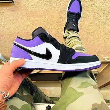 Nike sb dunk low pro Air force 1 Hot sale classic color matching low-top casual shoes sports shoes sneakers Puprle