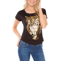 Hoot Hoot Owl Top - Black