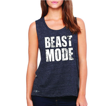Zexpa Apparel™ Beast Mode On  Women's Muscle Tee Workout Fitness Bodybuild Sleeveless