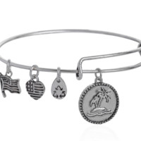 Alex and Ani  style tropic affair pendant charm bracelet