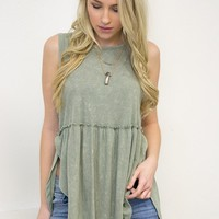 Faded Olive Top