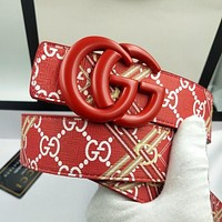 GG new double smooth buckle belt