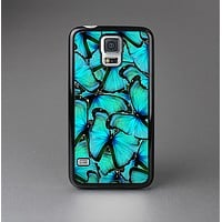 The Turquoise Butterfly Bundle Skin-Sert Case for the Samsung Galaxy S5
