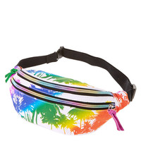Rainbow Palm Tree Fanny Pack
