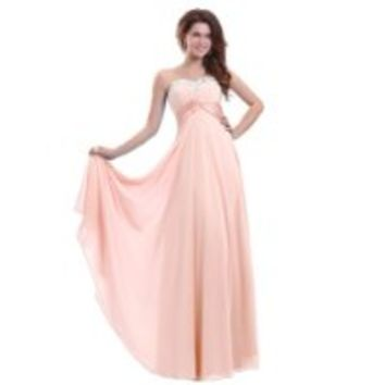 Sunvary Long Sleeves Satin Quinceanera Mother of the Bride Dress Prom Size 10- Hot Pink