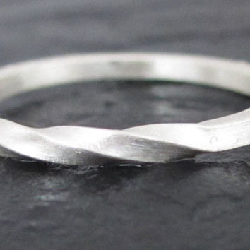 $25.00 Sterling Silver Stacking Square Shank Ring 925 by VaLaJewellery
