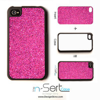NEW Pink Glitter n-Sert iPhone 4, 4s, 5 Case with Changeable Inserts