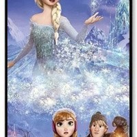 Elsa The Snow Queen in Frozen Custom Hard Shell PC Black Skin Cover Case for iPhone 4/4s by Kingcase
