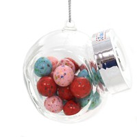Holiday Ornaments OLD FASHION CANDY JAR Glass Christmas A1722 Jaw Busters