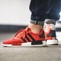 Best Online Sale Adidas NMD R1 Core Red/Core Black/White BB2885 Boost Sport Running Shoes Classic Casual Shoes Sneakers