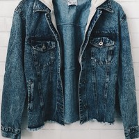 Jacie Hooded Denim Jacket
