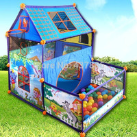 Child Sunshine Villa oversized princess indoor great ocean ball pool baby toy game house tent  with ball