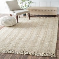 Hand Woven Don Jute with Fringe Rug