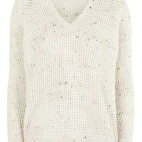 Textured V Jumper