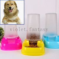 Automatic Pet Dog Cat Feeder Dispenser Control Water Food Dish Bowl Meals Tray = 1930026180