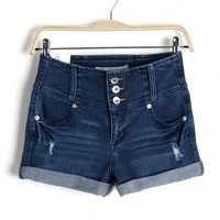 High Waist Denim Short in Light Wash