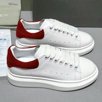 Alexander McQueen Red and white sports shoes