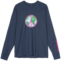 World Peace L/S Tee in Navy