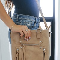On the Double Bag - Taupe