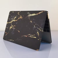 "Black Marble MacBook Air 11"" 13"" Retina 13"" 15"" Pro 15"" 12""  Mac 12"" Case Cover, Novo Rubberized Hard Shell Gift"