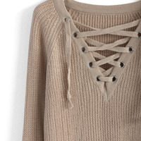 Lace-up Mood Sweater