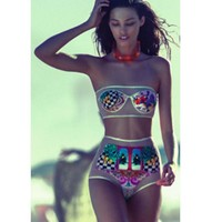 New Arrival Hot Summer Sexy Swimsuit Casual Beach Print Bottom & Top Swimwear Bikini [6532560583]