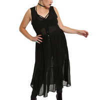 Black Chiffon Duster Plus Size